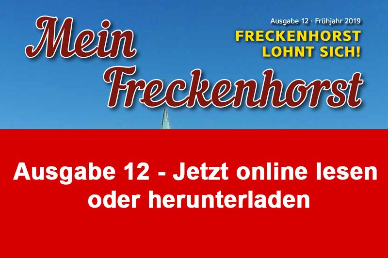 """0e5577e4f0 Hier können Sie die 12. Ausgabe der neuen Zeitschrift """"Mein Freckenhorst""""  direkt online lesen. Einfach auf das Titelblatt der aktuellen Ausgabe unten  ..."""